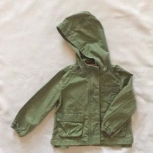 Green surplus jacket